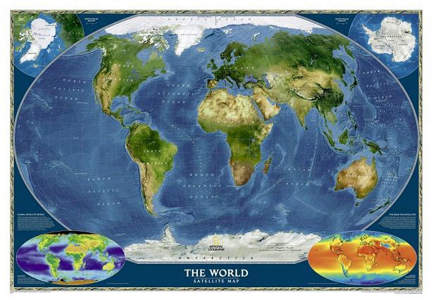Спутниковая карта мира высокого разрешения