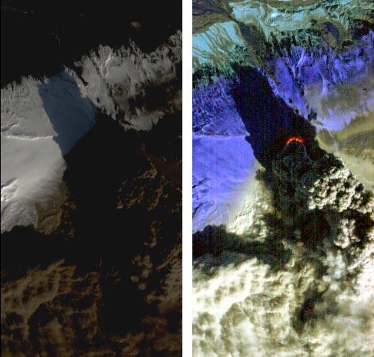 Вулкан Эйяфьятлайокудль в Исландии
