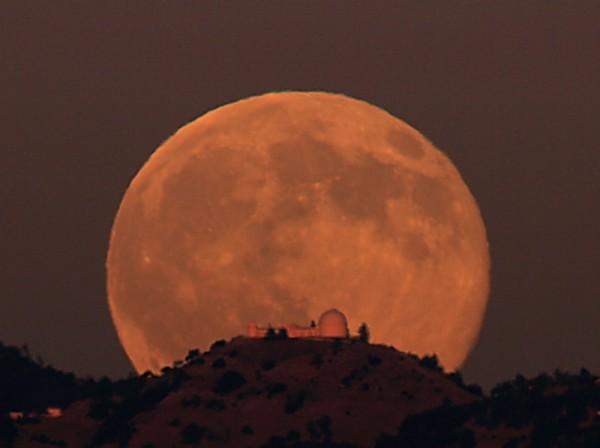 Размер Луны
