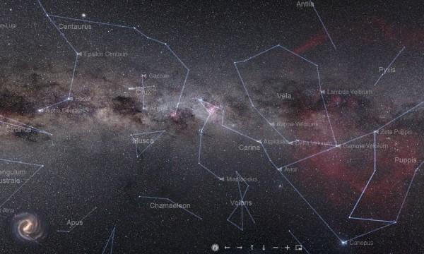 Карта созвездий неба