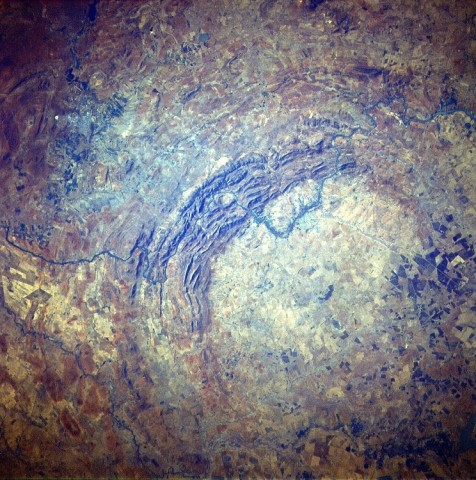 Места падения метеоритов