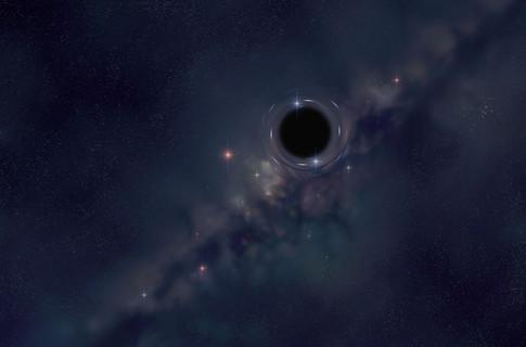 Гигансткая черная дыра выходит из своей галактики